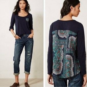 Paper Locket Anthropologie Paisley Accordion Tee L